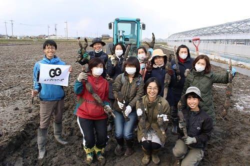蓮根掘り体験イベント