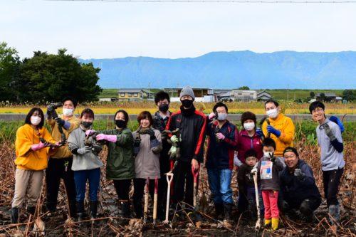 蓮根掘り体験